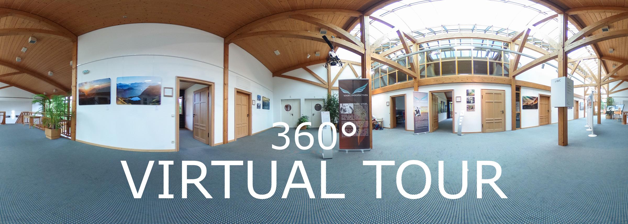 360° Virtuelle Tour durch die Ausstellung - Vogelsperspektiven 2016 - Kurhaus Fiskina in Fischen