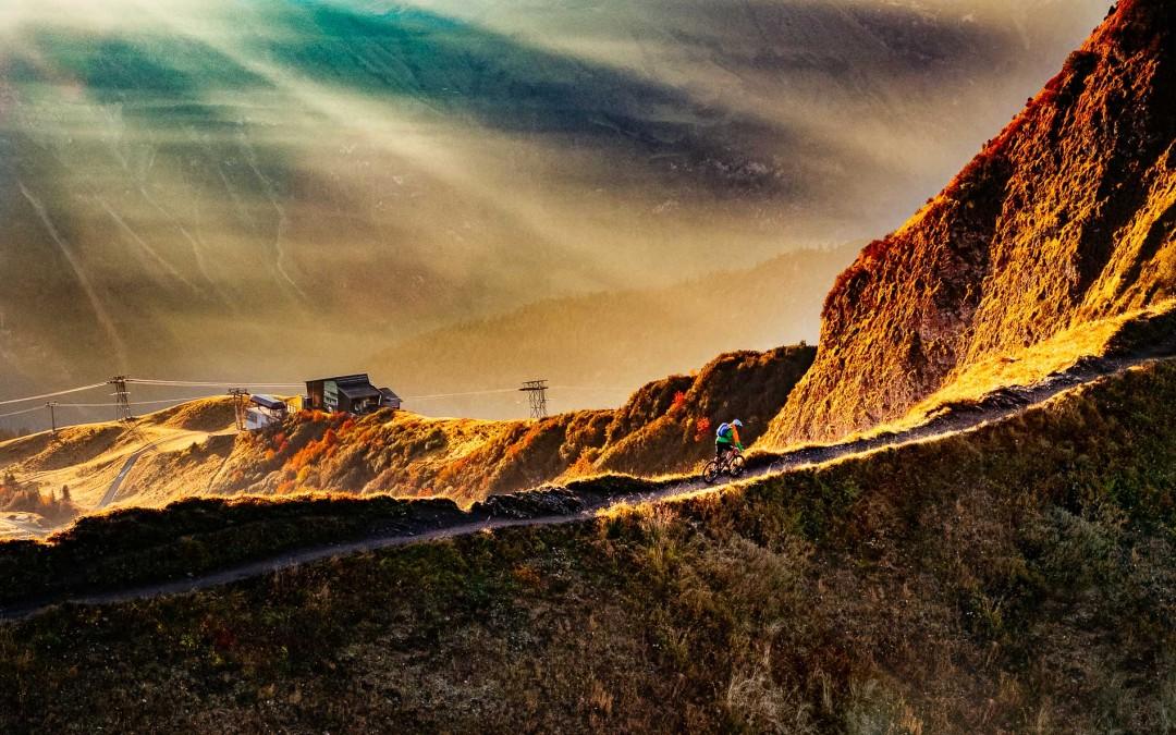 Hochalpines Mountainbiken - Fellhorn Sonnenaufgang